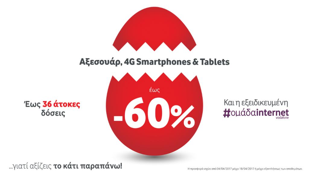 Μοναδικές Πασχαλινές Προσφορές  έως και 60%  σε Αξεσουάρ, 4G Smartphones και Tablets στη Vodafone | Pagenews.gr