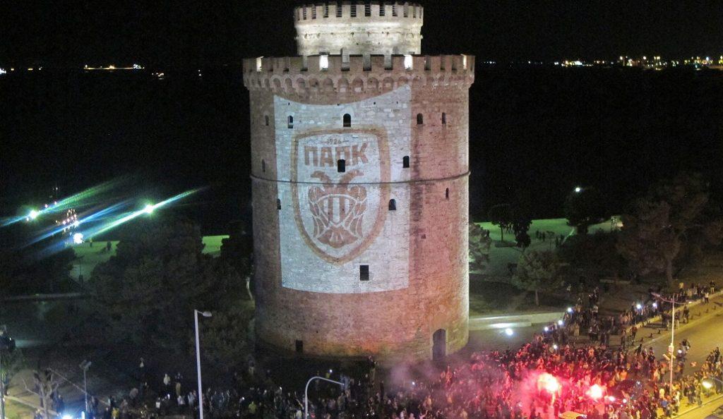Λευκός Πύργος: Φωτίστηκε και έγινε… ΠΑΟΚ (pics) | Pagenews.gr
