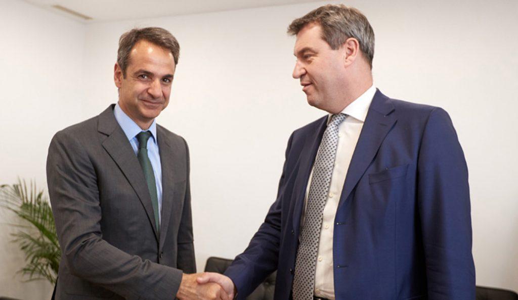 Τετ-α-τετ Μητσοτάκη με τον Βαυαρό υπουργό Οικονομικών | Pagenews.gr