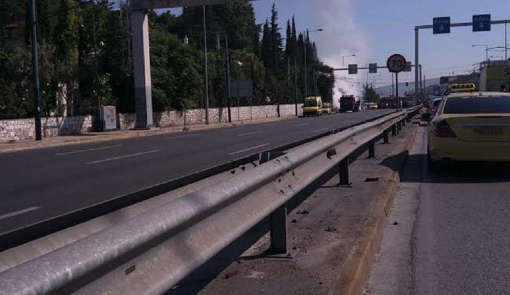 Αυτοκίνητο πήρε φωτιά στην Κηφισίας – Κυκλοφοριακό κομφούζιο   Pagenews.gr