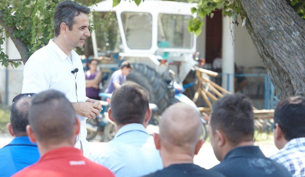 Συνάντηση Κ. Μητσοτάκη με κτηνοτρόφους της Ελασσόνας | Pagenews.gr