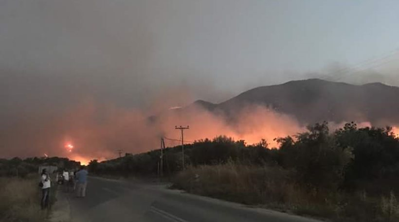 Ιεράπετρα: Φωτιά κοντά σε ξενοδοχειακές μονάδες   Pagenews.gr