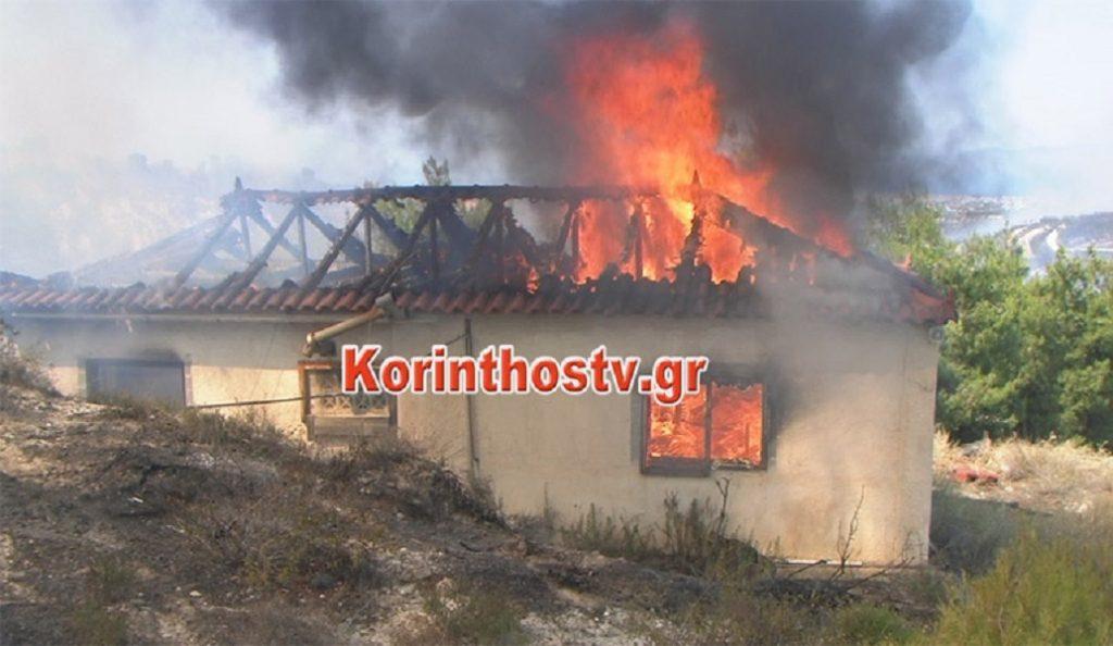 (upd) Μαίνεται πυρκαγιά στο Ζευγολατιό Κορινθίας – Κάηκε σπίτι, 3 πυροσβέστες τραυματίες (pics&vid) | Pagenews.gr
