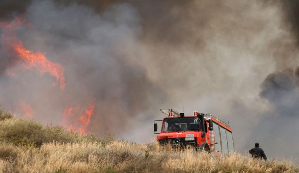 Πυρκαγιά στην περιοχή Σκαδό της Νάξου   Pagenews.gr