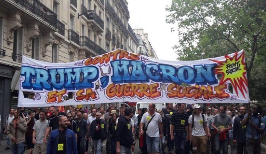 Διαδήλωση κατά Μακρόν και Τραμπ στο Παρίσι   Pagenews.gr