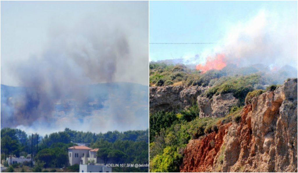 Πυρκαγιά στα Κύθηρα – Οι ελπίδες στα εναέρια μέσα που επιχειρούν | Pagenews.gr