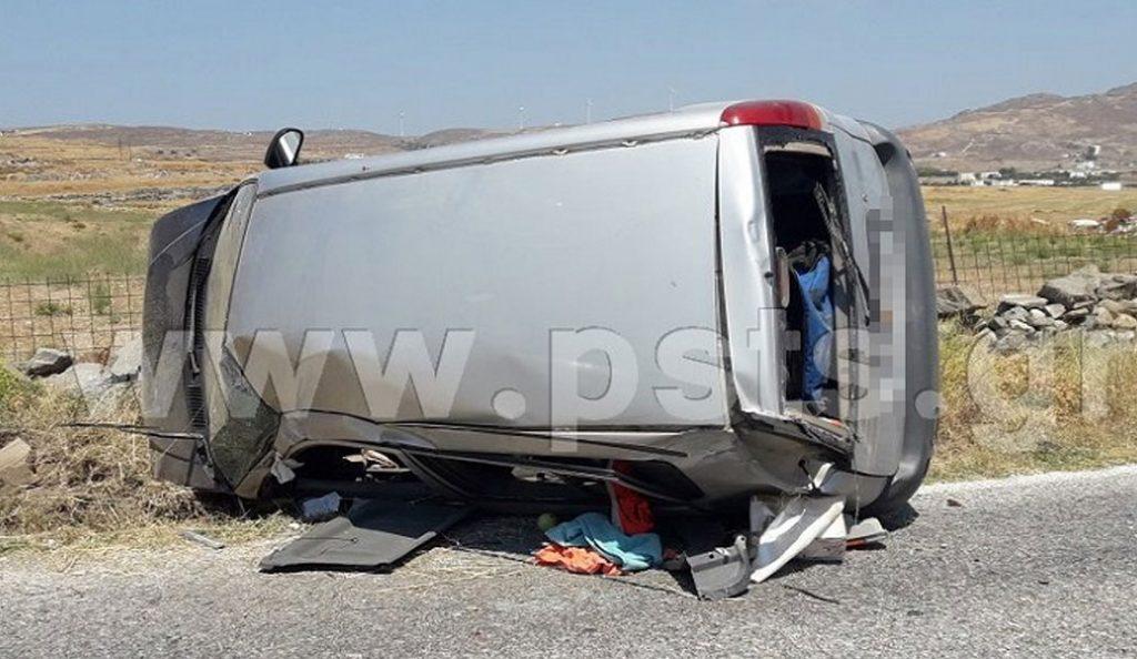 Συγκρούστηκε τουριστικό λεωφορείο με ΙΧ στην Πάρο (pics) | Pagenews.gr