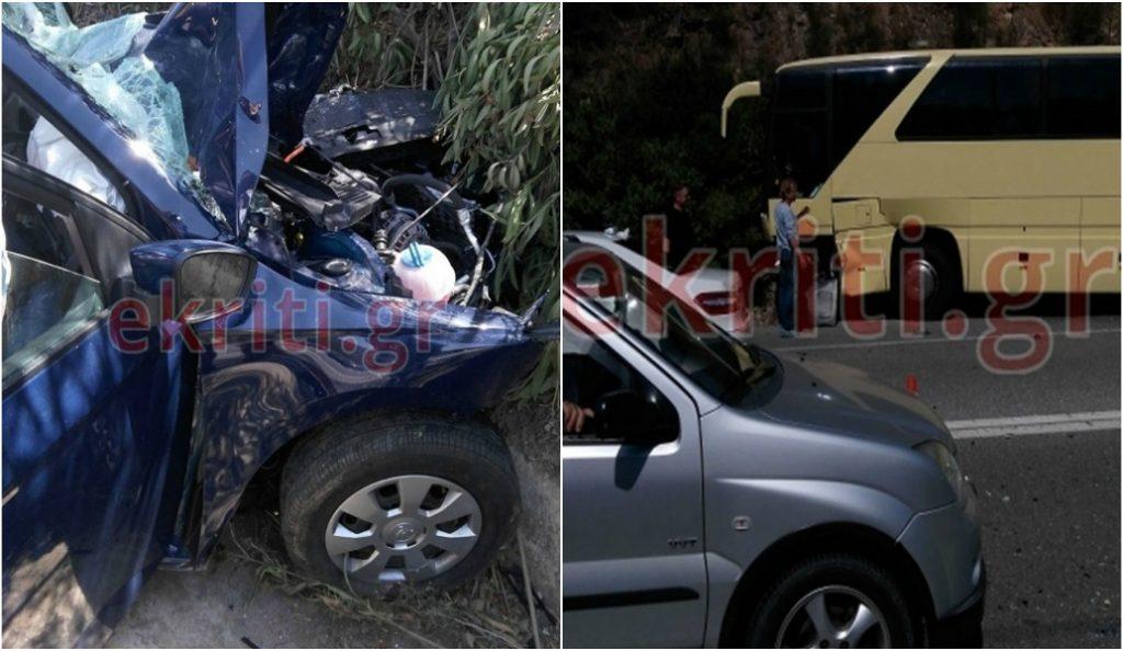 Τραγικό δυστύχημα στην Κρήτη: Σφοδρή σύγκρουση λεωφορείου με ΙΧ – Ένας νεκρός (pics) | Pagenews.gr