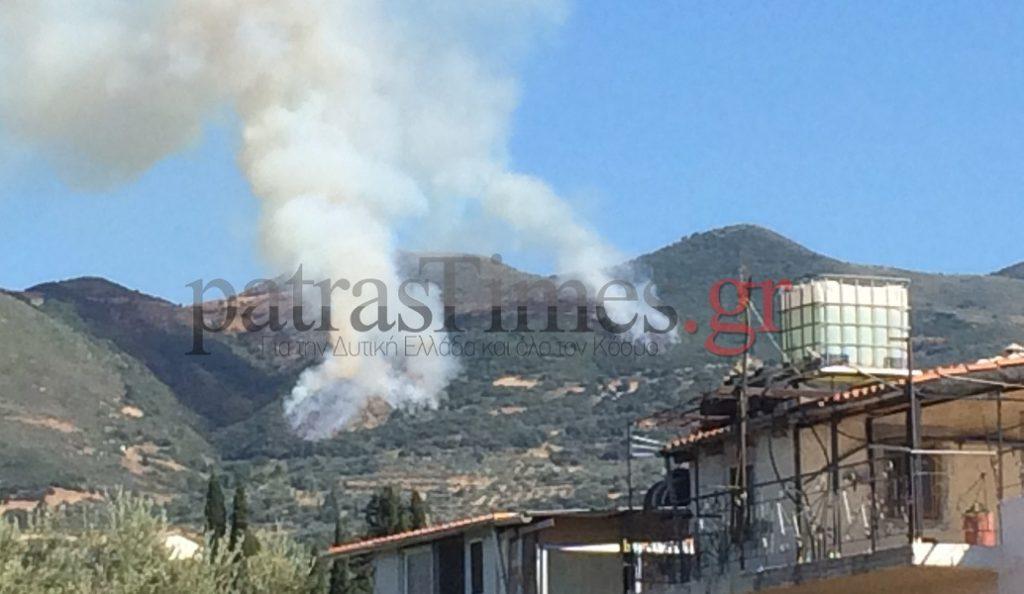 Φωτιά τώρα στην Πάτρα: Απειλούνται σπίτια | Pagenews.gr