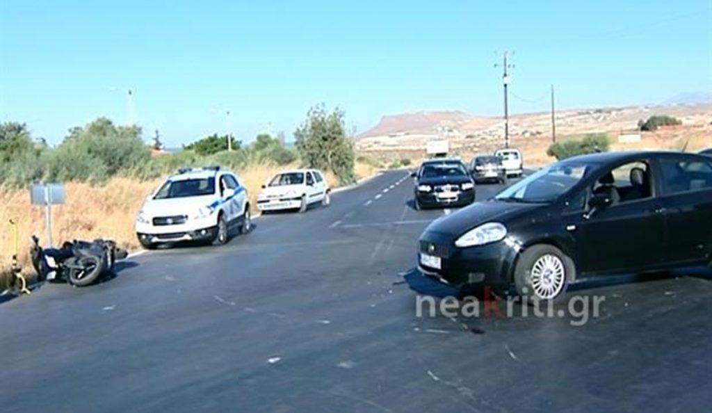 Κρήτη: Νέο τροχαίο ατύχημα – Στην εντατική οδηγός μοτοσικλέτας (pic)   Pagenews.gr