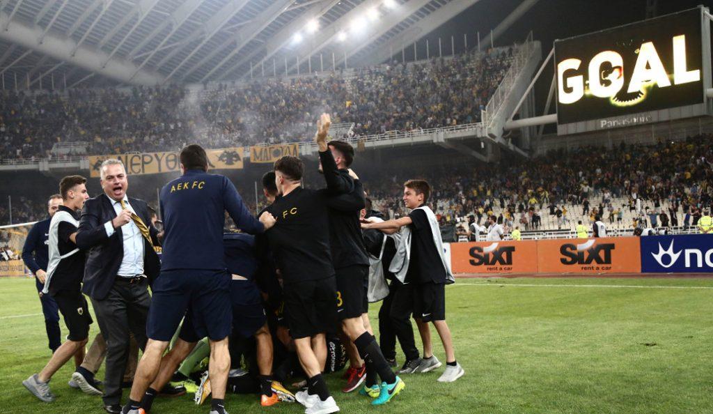 ΑΕΚ – Ολυμπιακός: Ξέφρενοι πανηγυρισμοί στα αποδυτήρια των κιτρινόμαυρων (pics) | Pagenews.gr