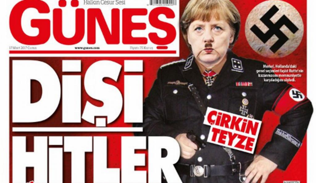 Η Μέρκελ αλά Χίτλερ σε εξώφυλλο τουρκικής εφημερίδας (pic)   Pagenews.gr
