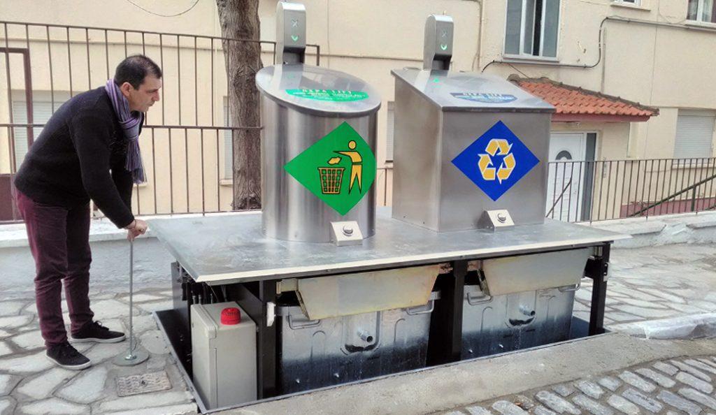 Καβάλα: Ο Δήμος αντικαθιστά τους κάδους απορριμμάτων με βυθιζόμενους (pics) | Pagenews.gr