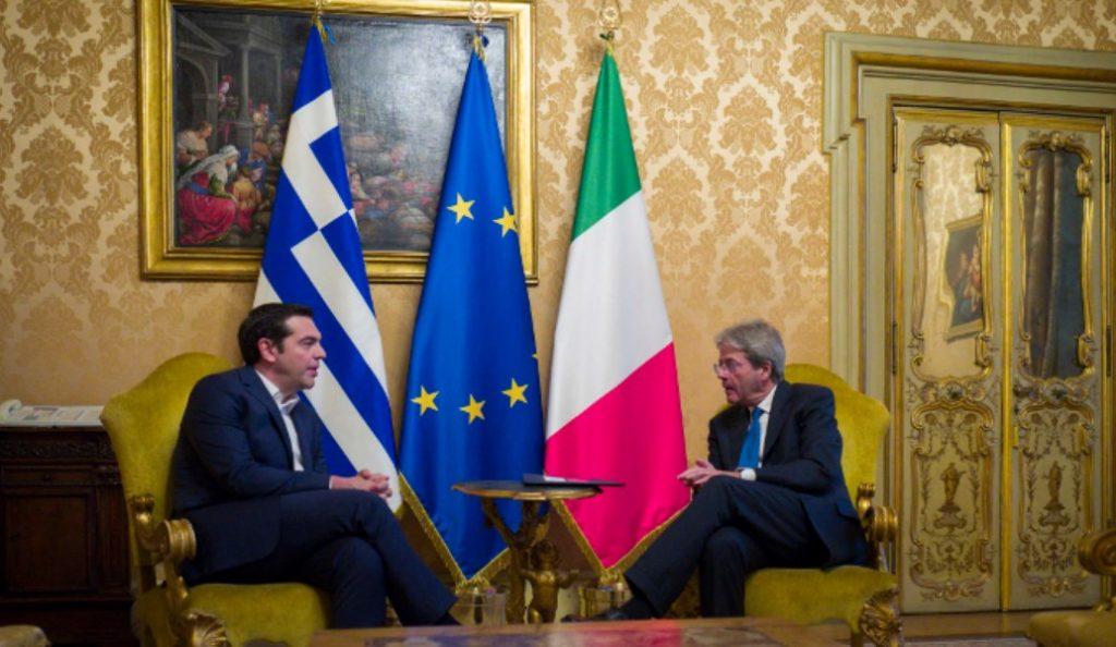Ιταλία: Συνάντηση Τσίπρα- Τζεντιλόνι | Pagenews.gr