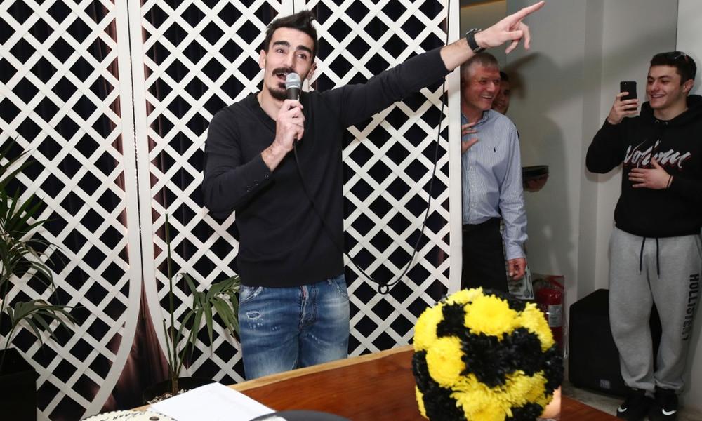 ΑΕΚ: Το τραγούδι του Λάζαρου στην κοπή της πίτας! (vid) | Pagenews.gr