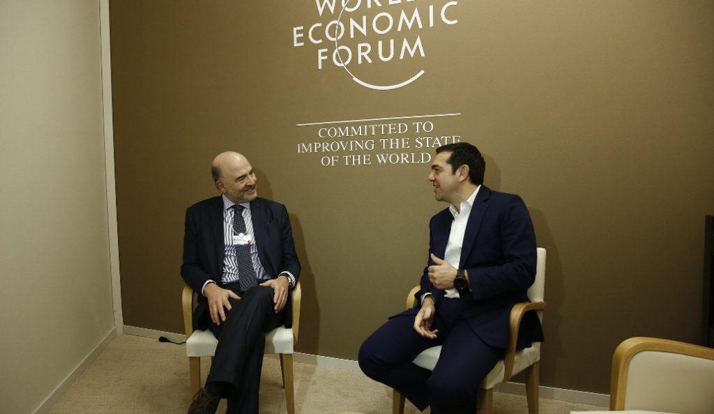 Αλέξης Τσίπρας – Πιέρ Μοσκοβισί: Τετ α τετ στο Νταβός για χρέος και έξοδο στις αγορές   Pagenews.gr