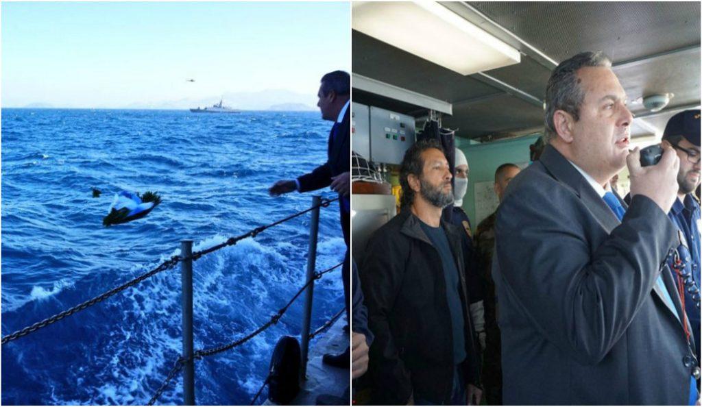 Ίμια: Τουρκικό σκάφος προσπάθησε να εμποδίσει τον υπουργό Άμυνας να αποτίσει φόρο τιμής στους πεσόντες του 1996 (pics) | Pagenews.gr
