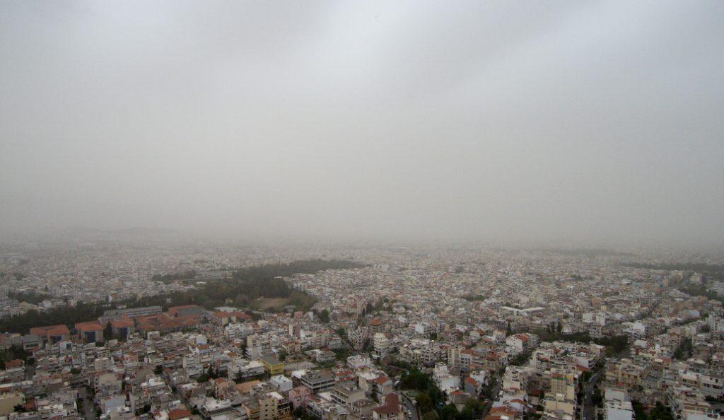 «Πνίγεται» από την αφρικανική σκόνη η Αττική (pics) | Pagenews.gr