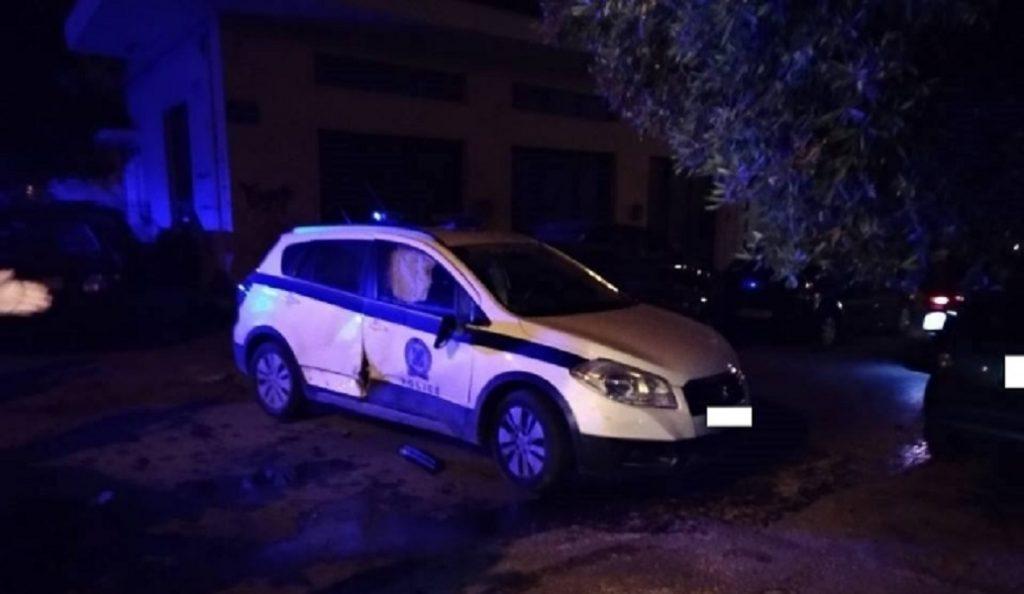 Ηράκλειο: ΙΧ συγκρούστηκε με περιπολικό (pics)   Pagenews.gr