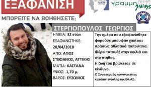 Νεκρός εντοπίστηκε ο Γιώργος Στεργιόπουλος | Pagenews.gr