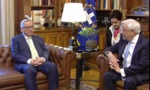 Γιουνκερ σε Παυλόπουλο: «Η Ελλάδα είναι η δεύτερή μου πατρίδα» | Pagenews.gr