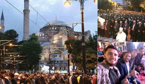 Οι μουσουλμάνοι «βούλιαξαν» την Αγιά Σοφιά σε μία επίδειξη δύναμης (pics&vids) | Pagenews.gr