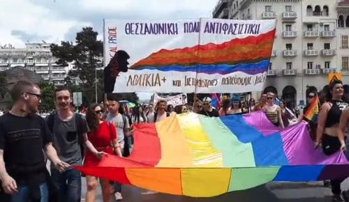 Η πολύχρωμη πορεία του 2ου «Thessaloniki Pride» (vid) | Pagenews.gr