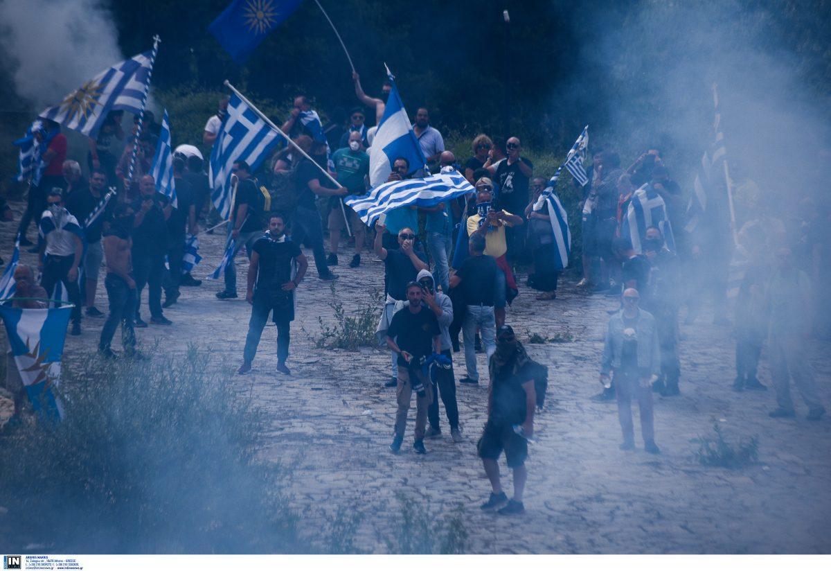Πρέσπες συλλαλητήριο: Οι πρώτες φωτογραφίες από τα εκτεταμένα επεισόδια | Pagenews.gr