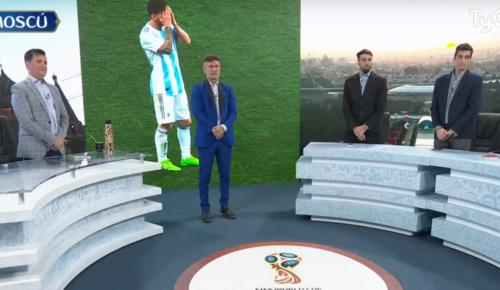 Μυθική στιγμή: Ενός λεπτού σιγή σε αθλητική εκπομπή στην Αργεντινή για την ήττα απ' την Κροατία (vid) | Pagenews.gr