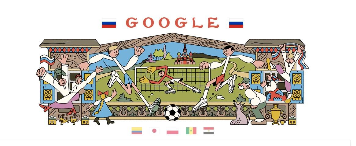 Μουντιάλ 2018: Το doodle της Google αφιερωμένο και πάλι στο Παγκόσμιο Κύπελλο Ποδοσφαίρου   Pagenews.gr