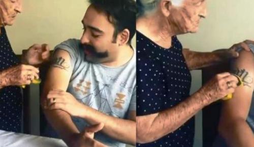 Γριούλα προσπαθεί να σβήσει το τατουάζ του γιου της με… σφουγγάρι (vid)   Pagenews.gr