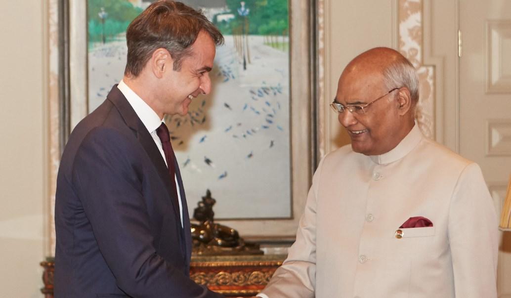 Μητσοτάκης: Συναντήθηκε με τον Πρόεδρο της Ινδίας (pic) | Pagenews.gr