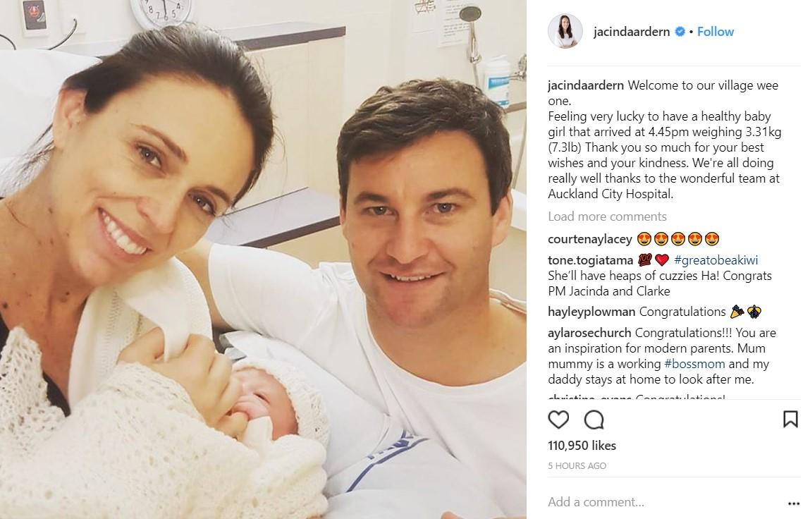 Νέα Ζηλανδία: Η πρωθυπουργός Τζασίντα Άρντερν έγινε μητέρα (vid) | Pagenews.gr