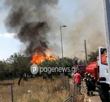 Φωτιά τώρα στο Μενίδι κοντά σε κατοικημένη περιοχή | Pagenews.gr