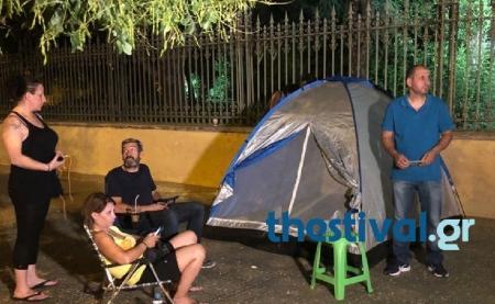Δήμος Θεσσαλονίκης: Συμβασιούχοι έστησαν σκηνές έξω από το υπουργείο Μακεδονίας-Θράκης (pics&vid) | Pagenews.gr