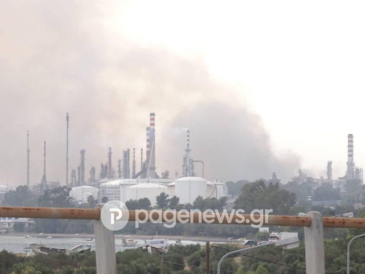 Φωτιά τώρα κοντά στα διυλιστήρια της Κορίνθου | Pagenews.gr