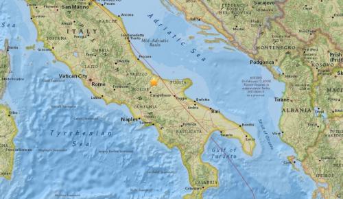 Σεισμός: Δόνηση 4,7 βαθμών στην Ιταλία   Pagenews.gr