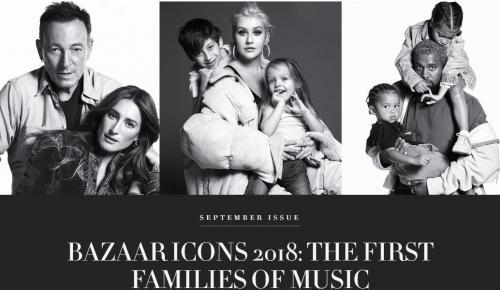 Διάσημοι τραγουδιστές ποζάρουν με τα παιδιά τους για το «Harper's Bazaar» (pics) | Pagenews.gr