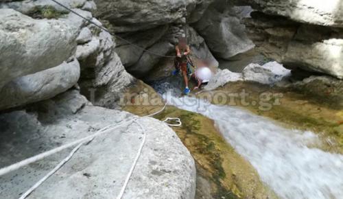 Φθιώτιδα: Η στιγμή του απεγκλωβισμού 21χρονης από φαράγγι (pics&vid)   Pagenews.gr