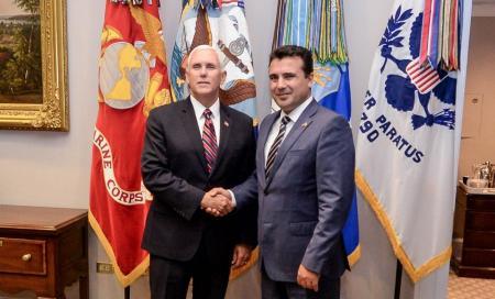 Ζόραν Ζάεφ: Συνάντηση με τον Μάικ Πενς στον Λευκό Οίκο | Pagenews.gr