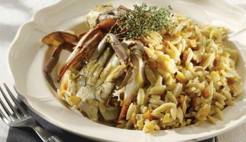 Η συνταγή της ημέρας: Κριθαράκι με καβούρια | Pagenews.gr