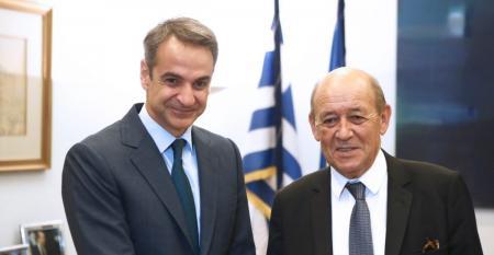 Μητσοτάκης: Συνάντηση με τον υπουργό Εξωτερικών της Γαλλίας   Pagenews.gr