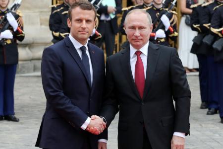 Συνάντηση Πούτιν – Μακρόν: Στο «τραπέζι» η Συρία και το περιστατικό στο στενό του Κερτς | Pagenews.gr