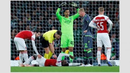 Europa League: Ο σοκαριστικός τραυματισμός του Γουέλμπεκ που πάγωσε το «Emirates» (vid&pics) | Pagenews.gr
