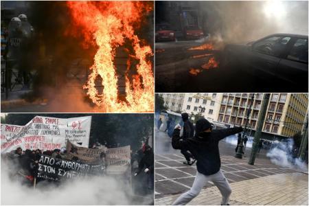 Γρηγορόπουλος: Επεισόδια στις πορείες σε Αθήνα και Θεσσαλονίκη (pics&vids) | Pagenews.gr