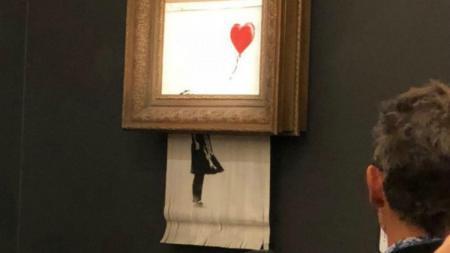Μπάνκσι πίνακας: Το αυτοκαταστρεφόμενο έργο του εκτίθεται στη Γερμανία (vid) | Pagenews.gr
