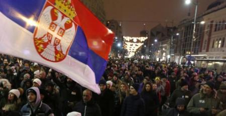 Σερβία: Νέα διαδήλωση κατά του προέδρου Βούτσιτς στο Βελιγράδι   Pagenews.gr