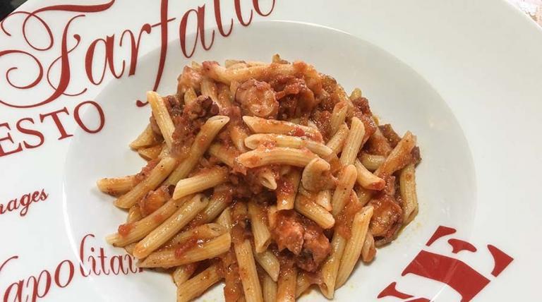 Η συνταγή της ημέρας: Πένες με χταποδάκι και σάλτσα λιαστής ντομάτας   Pagenews.gr
