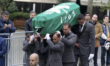 Θανάσης Γιαννακόπουλος: Με σημαία του Παναθηναϊκού το φέρετρό του (pics) | Pagenews.gr