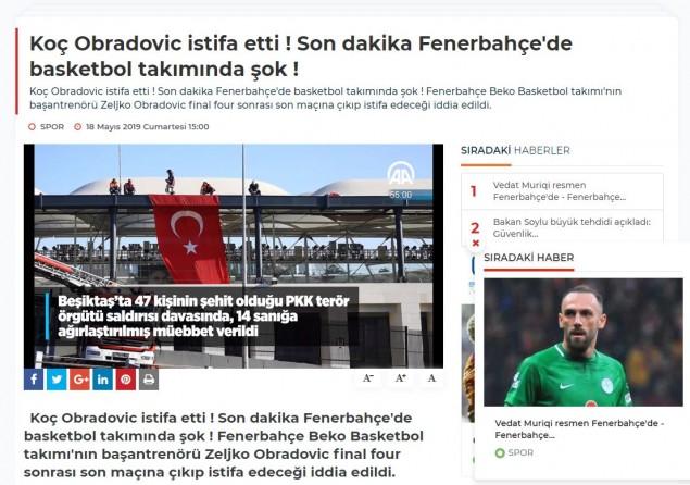 Ζέλικο Ομπράντοβιτς: Φήμες για παραίτηση από την Φενέρ